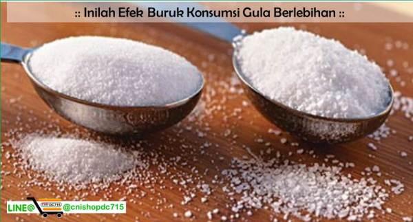 Inilah Efek Buruk Konsumsi Gula Berlebihan