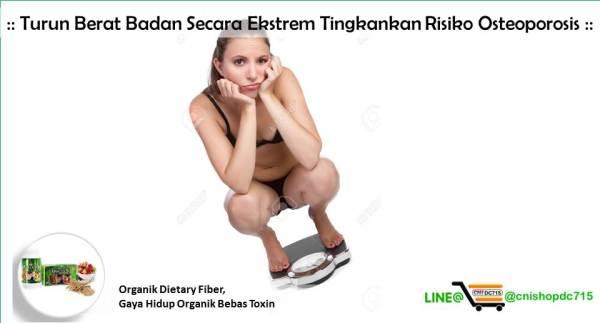 Turun Berat Badan Secara Ekstrem Tingkankan Risiko Osteoporosis