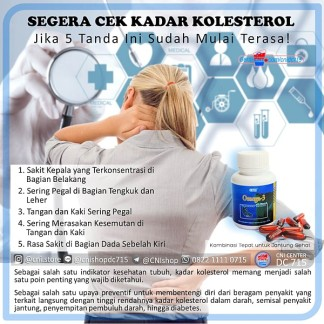 Segera Cek Kadar Kolesterol Jika 5 Tanda Ini Sudah Mulai Terasa, omega 3