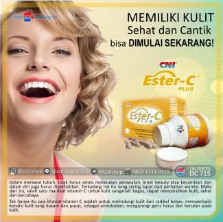Sering Konsumsi Vitamin C = Cantik Lebih Lama, cni ester-c plus
